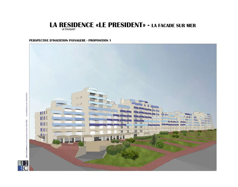 exemple perspective insertion le touquet